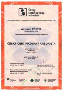Certifikát arboristy