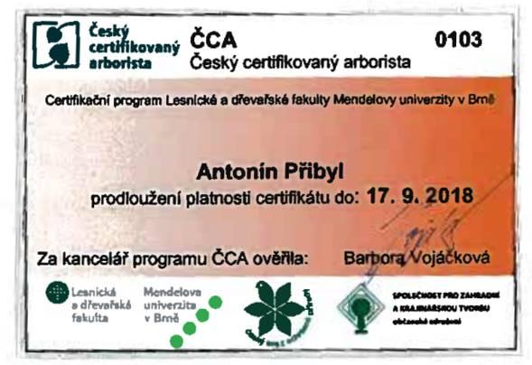 nový certifikát